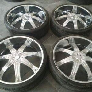 28 inch effen rims on new rubberband tires.